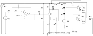 100w subwoofer amplifier circuit diagram working and applications circuit diagram of 100w sub woofer amplifier