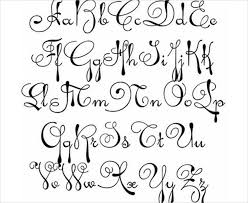 design letter 9 fancy cursive letters free premium templates