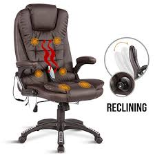 massage chair office. uenjoy 6 point massage chair executive ergonomic heated vibrating computer office brown