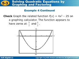 example 4 continued check graph the function f x 4x2 25