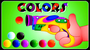 Colors For Children To Learn With Gun Game Colours For Kids To Toddler Color Games L