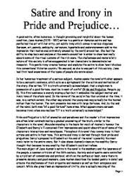satire and irony in pride and prejudice gcse english marked  page 1 zoom in