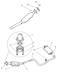 1997 dodge neon exhaust system diagram i2113460