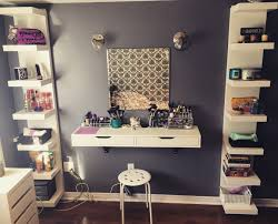 Extraordinary Ideas Makeup Shelves Charming Decoration Debbiedebo1  Organization Pinterest Ikea