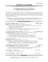 Restaurant Manager Resumes Unforgettable Assistant Manager Resume Sample Restaurant  Manager Resume