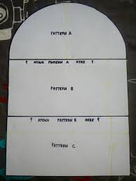 this is the complete pattern for the front back panels of the mixer cover