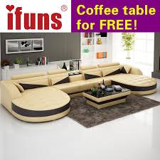 room french style furniture bensof modern: ifuns european style living room furnituremodern recliner sofasu shaped brown classic leather floor sofa