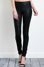 wishlist faux leather moto leggings front cropped image