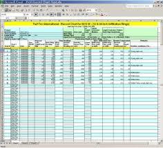 Free Download Spreadsheet Templates Turf Tec International Free Downloadable Spreadsheets For