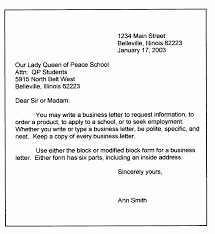 Letter Template For Word Personal Letter Template Word Format Business Sample