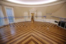 inside the oval office. A Look Inside The Empty Oval OfficeParts Of West Wing Within White House Undergo RenovationsThe Office Sits And Walls Covered With O
