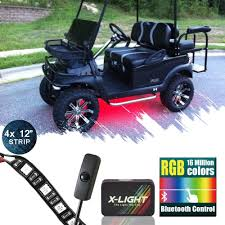 Golf Cart Underbody Lights Us 44 99 X Light Bluetooth Golf Cart Underbody Glow Led Lighting Kit Rgb Accent Neon Strips W Switch Music Active Million Color In Decorative