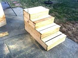 outdoor wooden stairs portable unique steps for your notice the fastening bars prefab wood outdoor wooden steps