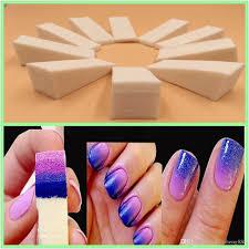 Gradient Nail Sponges Natural Magic Simple Creative Nail Design Uv ...