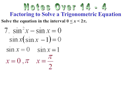 solving a trigonometric equation find the general solution of the equation