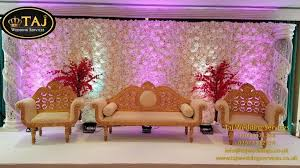 asian indian wedding decorations mehndi stages flower wall backdrop chair covers wedding lights