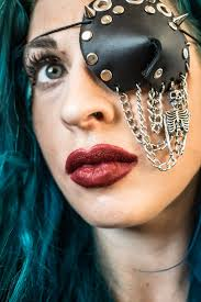 leather eye patch leather