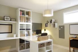 office desk at ikea. Ikea Billy Bookcase And Desk In White Minimalist Home Office At