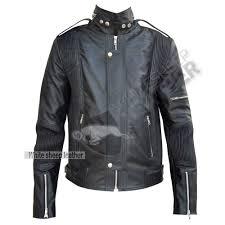 men s designer daft punk studded leather jacket