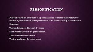 creative writing unit one common literary terms session ppt  3 personification