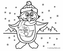 Winter Penguin Coloring Pages | NewColoring123