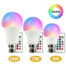 Remote Control Light Bulbs Uk Details About Rgb Bulb 5 7 10w B22 Energy Saving 16 Colour Changing Light Bulb Remote Control