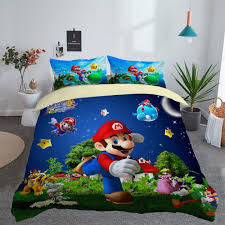 details about 3d super mario bros mario koopa duvet cover quilt cover bedding set pillow case