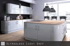 ultra high gloss light grey kitchen doors u2016 cabinetsanddoors co ukultra high gloss grey kitchen