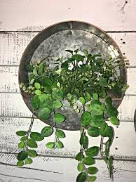 round metal planter farmhouse décor home decor