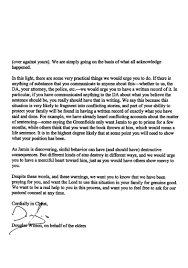 when doug wilson wrote to my father