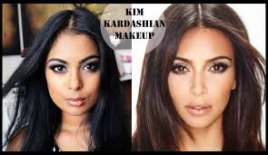 kim kardashian makeup for dark skin full face foundation contour highlight eyes lips you