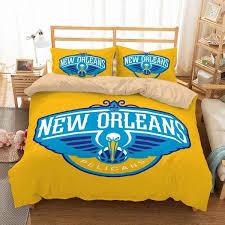 3d customize new orleans pelicans bedding set duvet cover set bedroom three lemons hometextile