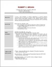 Resume Examples  College Student Objective For Resume  mechanical     sample how to write resume objectives with education and work experience as software development engineer