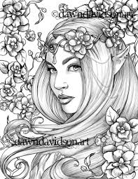 Freckles The Fairy Coloring Page Printable Colouring For Etsy