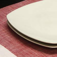 gibson zen buffetware white square dinner plates set of 8 985100027m the home depot
