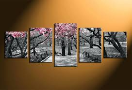 trees canvas wall art 5 piece group canvas black and white wall decor trees canvas print  on 5 piece canvas wall art trees with trees canvas wall art red maple tree print 5 piece canvas art wall