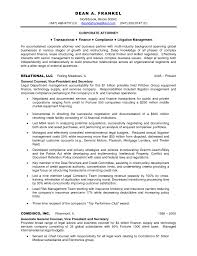 Sample Resume Sle Resume For Attorney On Inhouse