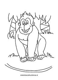 Kleurplaat Gorilla Dieren