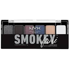 nyx cosmetics the smokey fume shadow palette ounce highly pigmented eye shadow creates a variety of eye makeup looks apply as subtle or dramatic as desired