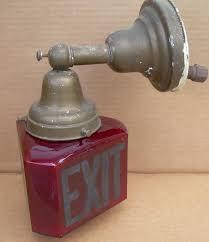 antique exit light fixture lighting designs