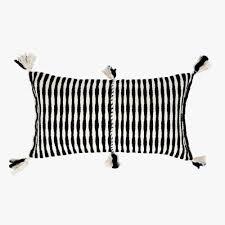 black and white lumbar pillow. Modren Pillow Antigua Black Lumbar Pillow And White