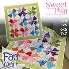 Fan quilt 4x4 5x5 6x6 7x7 in the hoop machine embroidery design ... & Fan quilt 4x4 5x5 6x6 7x7 in the hoop machine embroidery design - Sweet Pea Adamdwight.com