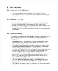 Project Statement Of Work Template For Simple Word Sample