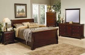 New Classic Bedroom Furniture Versailles Sleigh Bedroom Set In Mahogany 201481