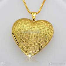 whole whole 18 k gold classic heart shaped box pendants can pack perfume cotton and photos fashion jewelry gift for woman p30035 necklace charm