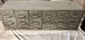 vintage metal storage cabinet. Vintage Metal Parts Cabinet 18 Drawers 1 Of 5Only Available Storage D