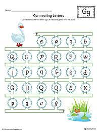 Connecting Letters Letter G Worksheet Color