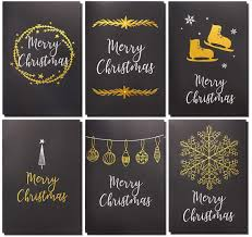 Design Holiday Cards Online 36 Pack Merry Christmas Greeting Cards Bulk Box Set Winter Holiday Xmas Greeting Cards In 6 Black Designs With Gold Foil Accents Envelopes