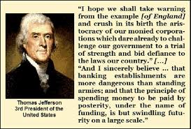 James Madison Quotes Fascinating Today's Quotes Jefferson And Madison On Banks Corporations And