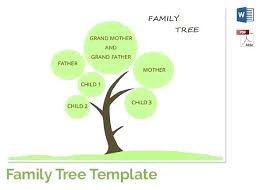 Template For Family Tree In Word Timetoreflect Co